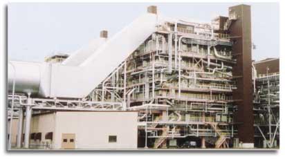 Química e Derivados: Caldeiras: Gerador de vapor por recuperação térmica da Mitsubishi, instalado no Japão.