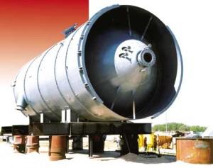 Química e Derivados: Reatores: Reator de 90 t da nova fábrica da Polibrasil.