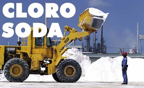 Química e Derivados: Cloro: Mostra carregamento de sal em unidade de cloro-soda no México. ©QD Foto - Gabriel M Covian - getty images