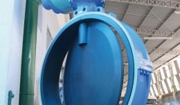 química e derivados, Válvulas, Válvula borboleta de grande porte fabricada pela RTS