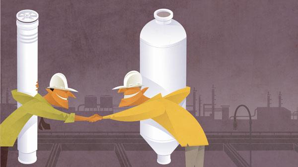 química e derivados, desmineralização de água