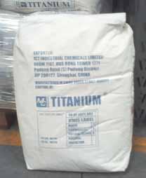 Química e Derivados, Dióxido de titânio ensacado, Tintas e Revestimentos