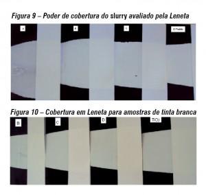 Química e Derivados, Poder de cobertura do slurry avaliado pela Leneta e Cobertura em Leneta para amostras de tinta branca