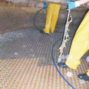 Química e Derivados, Operação de limpeza com sistema hidrojato